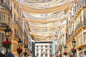 Calle Larios de Málaga, verano, estaciones del año