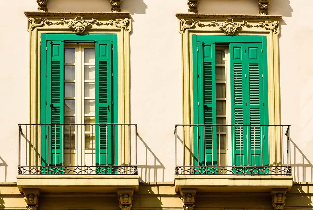 Classic andalusian balconies, Malaga