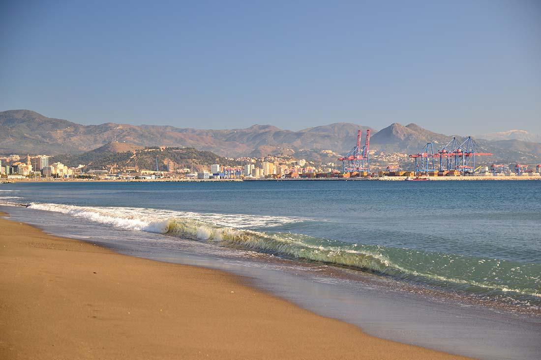 western beach of Malaga